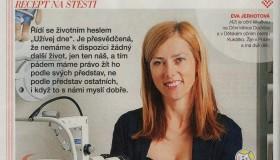 Recept na štěstí MUDr. Evy Jerhotové v časopisu VLASTA