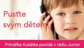 Primářka Kukátka povídá dětem o očích na rádiu Junior