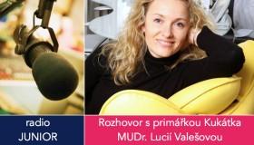 Primářka Kukátka radí rodičům na rádiu Junior