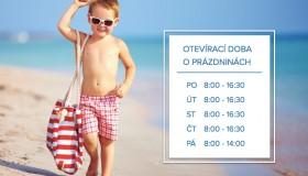 Otevírací doba o prázdninách