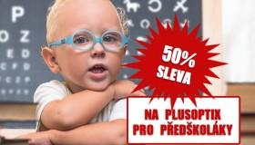 50% sleva na PlusOptix pro předškoláky