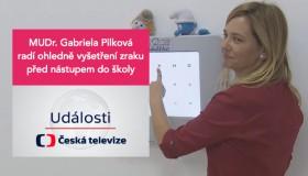 MUDr. Pilková radí v reportáži v Událostech na České televizi