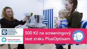 Příspěvek pojišťoven na screening zraku PlusOptixem