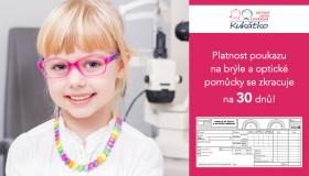 Platnost poukazu na brýle a optické pomůcky
